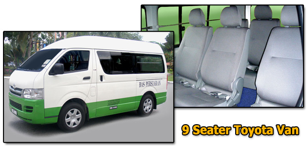 9 seats Toyota Alpha Rent A Van & Van Hire